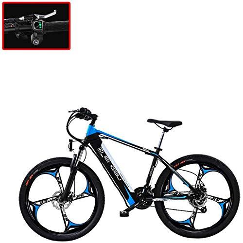 Bicicletas Eléctricas, Bicicleta de montaña eléctrica de 26 pulgadas de 26 pulgadas, bicicleta eléctrica de batería de litio de 250W 48V 27, con instrumento de pantalla LCD ,Bicicleta ( Color : B )