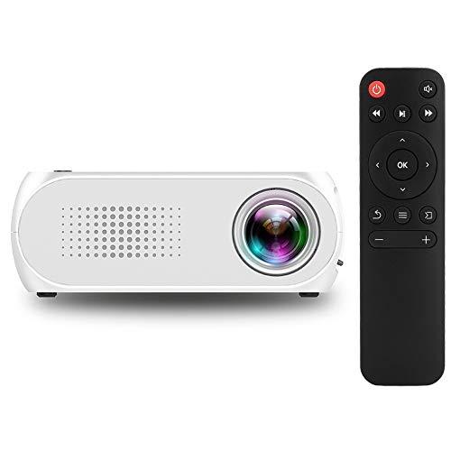 Mini-projector, HD 1080P 600 lumen projector Beamer, draagbare thuisbioscoopprojector voor PPT zakelijke presentaties Thuisbioscoopondersteuning USB/TF/HDMI/AV Multifunctioneel(EU)