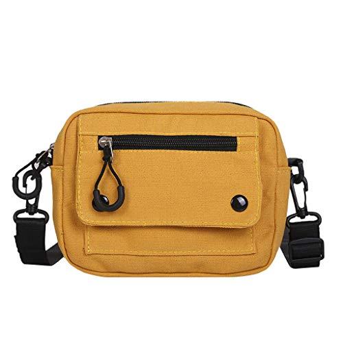 Boutiquesi Women Pure Color Casual Tote Outdoor Bag Canvas Handbag Zipper Shoulder Bag, Women Storage Pocket Messenger Bag Hand Bag Soft Lightweight Stylish Travel Daypack Top-Handle Bags