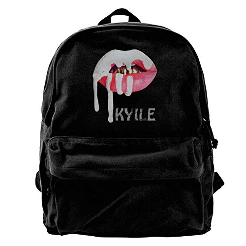 Rucksack aus Segeltuch Kylie Jenner Rucksack fürs Fitnessstudio, Wandern, Laptop, Schultertasche für Männer und Frauen