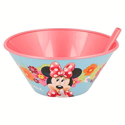 Stor Bol à petit-déjeuner avec paille 500 ml Plusieurs licences disponibles (Disney, Cars, Frozen, Minions, Spiderman...) Minnie Mouse