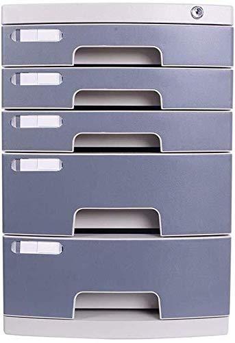 LIUYULONG Armario de almacenamiento de archivos, organizador de archivos, para diferentes ocasiones, potente seguridad, hebilla antiapagado, caja de plástico PP (color: A1, tamaño: 5 capas)