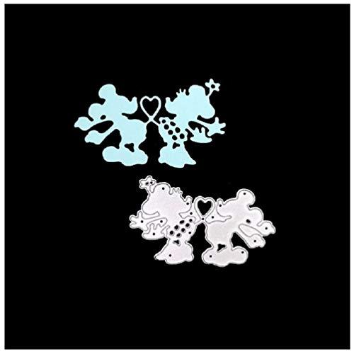 Katc Schön Stanzschablonen Metall Schneiden Schablonen für DIY Scrapbooking Album, Schneiden Schablonen Papier Karten Sammelalbum Dekor(Mickey Mouse)