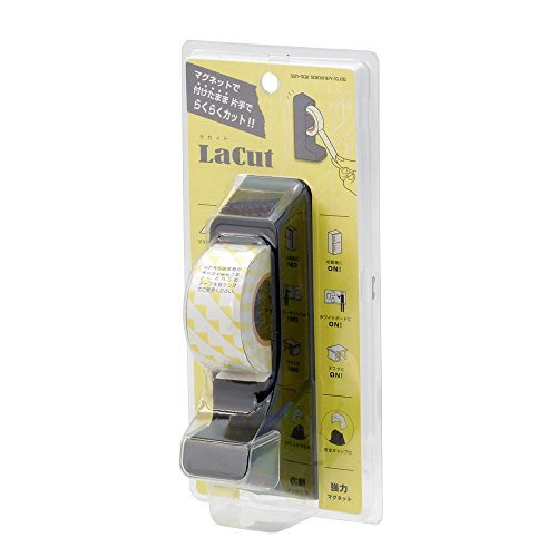 サンスター文具 マグネット付き テープカッター ラカット ブラック S4832388