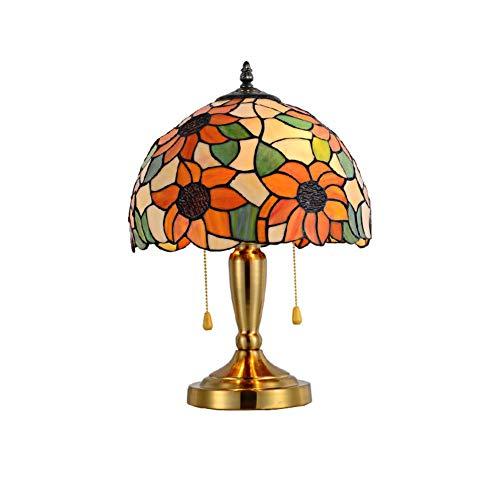 DIMPLEYA Lámpara de Escritorio LED Regulable, Estilo Tiffany Hecho a Mano Retro Lámpara de Mesa Creativa para Sala de Estar Dormitorio de Oficina Luz de Noche