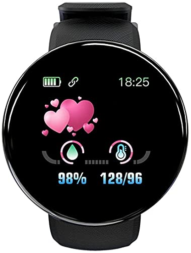 2021 Smart Watch 1.44 inch D18S Heart Rate, Blood Pressure, Sleep Monitoring Function, Calorie Counter, Male and Female Multifunctional Outdoor Sports for Child Teenager,IP65 Waterproof for Daily Life