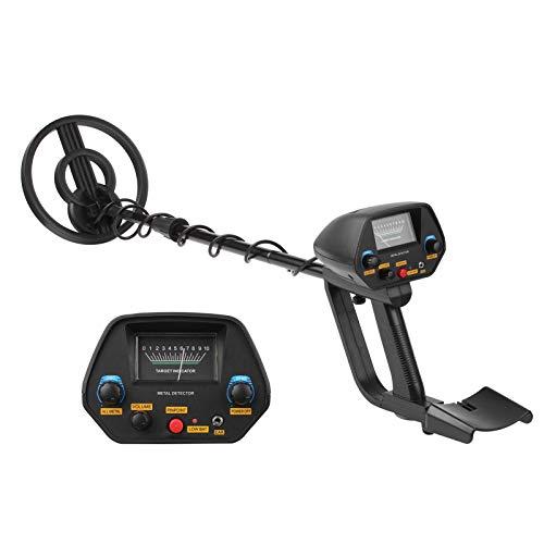Detectores de metales para exterior KKmoon Detector de metales Buscador de metales ajustable a prueba de agua 31-41 pulgadas con DISC y modos de localización Indicación de audio para adultos y jóvenes