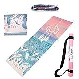 Esterilla de viaje Yoga Hero | esterilla de yoga | toalla de mano, plegable, antideslizante, 3 en 1...