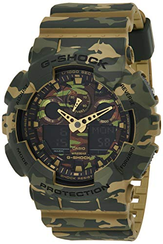 Casio HerrenMulti Zifferblatt Quarz mit Resin Armbanduhr GA 100CM 5AER