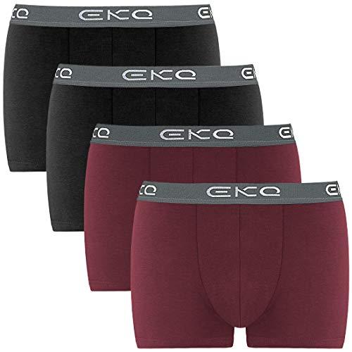 EKQ Boxershorts Herren 4er-Pack Retroshorts Männer Unterhosen Unterwäsche Baumwolle Boxer S, M, L, XL, XXL,XXXL