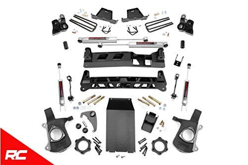 Rough Country 4' Lift Kit compatible w/ 1999-2006 Chevy Silverado GMC Sierra 1500 4WD w/ N3...