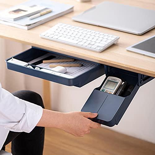 BKWJ Confezione da 2 sotto Organizer per cassetti da scrivania, portapenne Multifunzionale, Attacco per cassetto da scrivania, Organizer da scrivania...