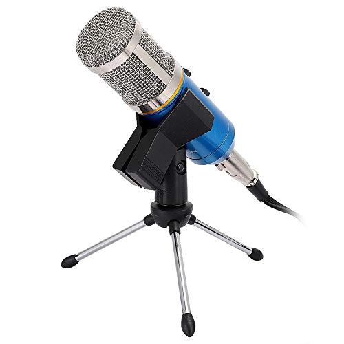 Goshyda Micrófono Lavalier Micrófono de Solapa Mini Clip Transmisión en Vivo Micrófono de Condensador cardioide con Cable con reverberación incorporada para computadora