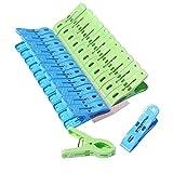 Clip Multiusos 24 Unids/Set Pinzas para la Ropa Hogar Fuerte a Prueba de Viento Pinzas para la Ropa Pinzas para Ropa de plástico Perchas para secar la Ropa Accesorio Hermoso y práctico