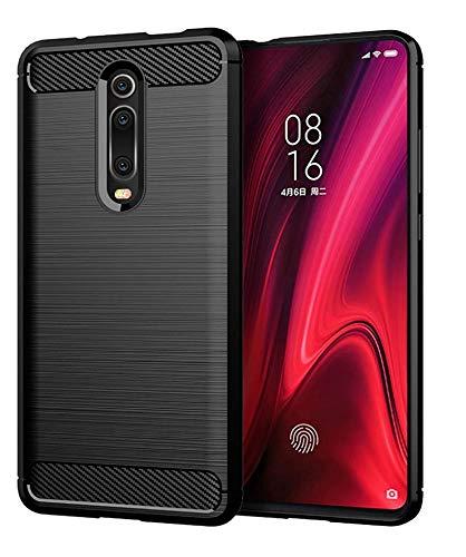 Capa Capinha Anti Impacto Para Xiaomi Mi 9T E Redmi K20 e K20 Pro Tela De 6.39 Case Com Desenho Fibra De Carbono - Danet (Preto)