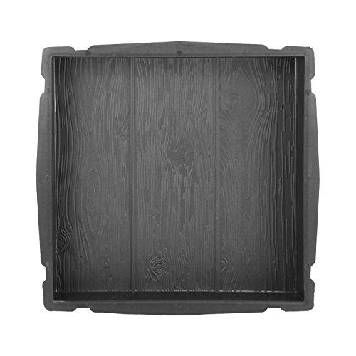 @tec Betonform Schalungsform Gießform Plastikformen für Beton, Terrassenplatte - Trittsteinplatte - Gehwegplatte - Betonplatte - Trittstein Holzoptik 40x40x4 cm