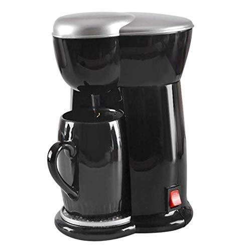Kaffeemaschine Single Cup Espressomaschine Home Electric Kaffeemaschine Home Office Retro Mode Schwarz (Farbe: Schwarz, Stecker Typ: USA) Traditionelle Kaffeemaschine ( Color : Black , Size : US )