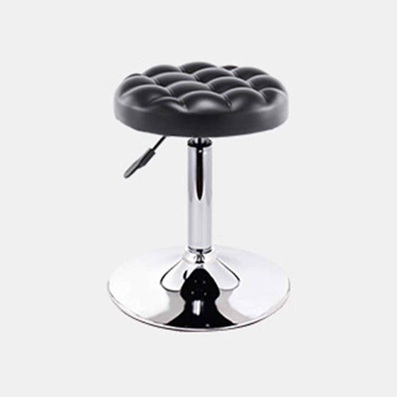 LJJL Bar Stool, Beauty Stool redating Stool Lifting Bar Chair Bar Chair Backrest High Stool Big Disc Stool 15.2  × (16.5   22.8 ) (color   Black-1)