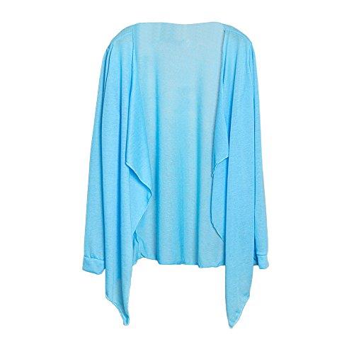 MORCHAN ❤ Tops Veste à Capuche Sweat Shirt Chemisier Manteau Tricots Tunique Été Femmes Long Thin Cardigan Modal Protection Solaire Vêtements Tops(Taille Libre,Bleu Ciel)