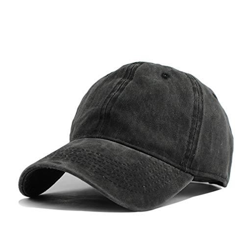 Baseball Cap, Basecap Unisex Baseball Kappen Baseball Mützen für Draussen Sport oder auf Reisen Trucker Hat (Schwarz)