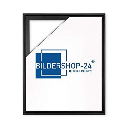 Bildershop-24 Schattenfugenrahmen Lemgo für Keilrahmenbilder und Leinwände 60x80cm Schwarz Matt