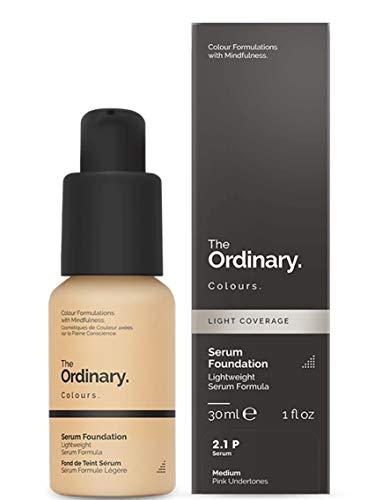 Sistema de suspensión The Ordinary Serum Foundation, de pigmentos ligeros, 30 ml, con cobertura moderada