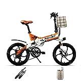 cysum TOP730 20 Pulgadas Bicicleta eléctrica Plegable para Adultos, 250W Motor 48V 8Ah Batería Citybikes, 25 km/h Shimano 7 Speeds MTB de Doble suspensión ebikes…