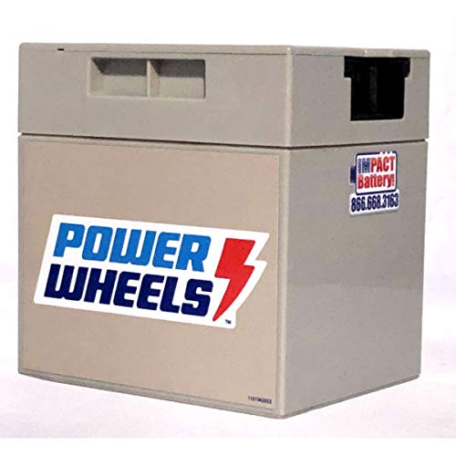 12-Volt Battery Fits Power Wheels Branded Toys: Replacement Part 1001175653, 00801-0638, 00801-1869 All Gray Rechargeable