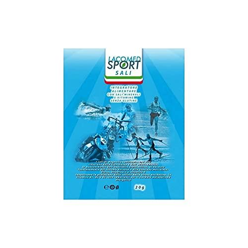 Lacomed Sport 16004, Integratore Sali Minerali Unisex Adulto, Bianco, 10 x ml 20