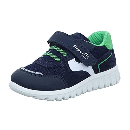 Superfit SPORT7 Mini Sneaker Lauflernschuh, BLAU/GRÜN, 31 EU