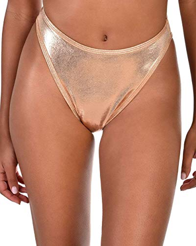 iHeartRaves J. Valentine Rose All Day Rose Gold High Cut Booty Shorts (Small/Medium)