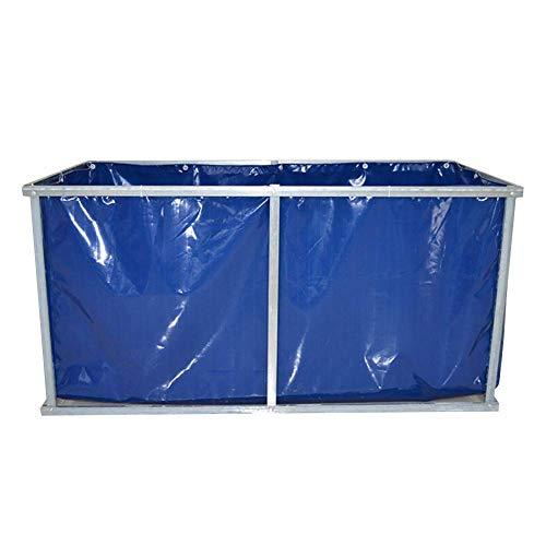 Tarps Large-scale Greenhouse Breeding Canvas blau dicke wasserdichte regensichere PVC-Plane für Pool-Reservoir - 510 g/m² (Größe: 5 × 4 × 09 m)