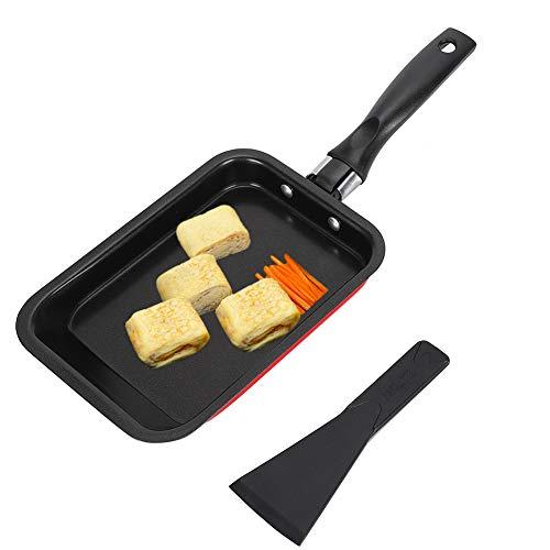 Padella Antiaderente,Padelle Universali Padelle per Omelette e Frittate Pentola Pancakes 18×12.5×2cm Giapponesi Piastra Crepes Mini Padella in Acciaio al Carbonio