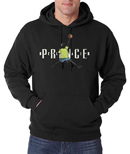 Urban Kingz geborduurde hoodie voor heren met capuchon Fresh Prince Stick Logo