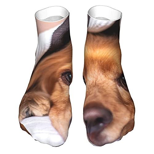 OUYouDeFangA Manta para perro y cachorro, calcetines de algodón para adultos, calcetines cortos para yoga, senderismo, ciclismo, correr, deportes de fútbol
