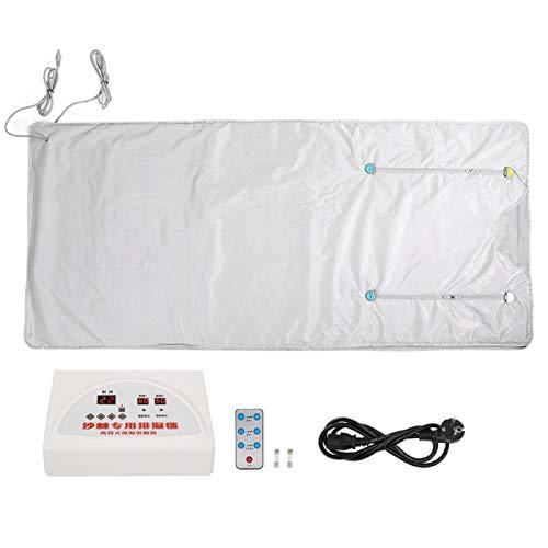 Manta de sauna para promover la circulación sanguínea, manta adelgazante(Silver European standard 220V)