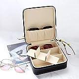 AOM Caja de Gafas de Sol portátil con Cofre de joyería par