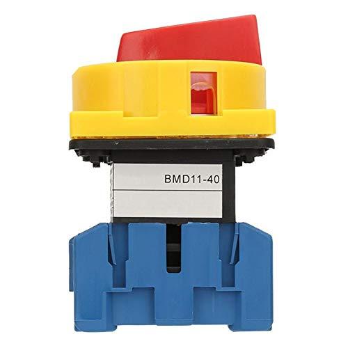 Interruptor disyuntor de carga, pequeño, compacto, de alta resistencia, carga estable, disyuntor, 40A, plástico ignífugo para máquinas herramientas químicas(40A, Blue)