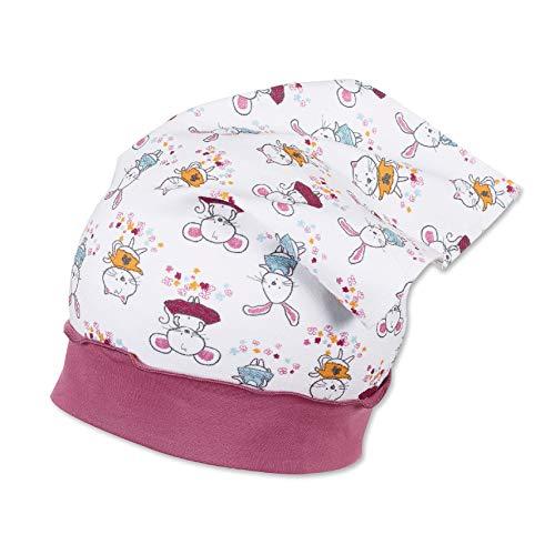 Sterntaler - Mädchen Kopftuch, weiß pink - 1451905, Größe 41