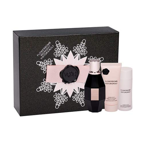 Viktor & Rolf Flowerbomb Midnight 50ml Eau de Parfum + 50ml Duschgel + 40ml Body Cream
