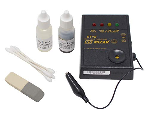 ET-18 Mizar Gold Tester Battery Operated Electronic Gold Karat Purity Value 10K 14K 18K Tester