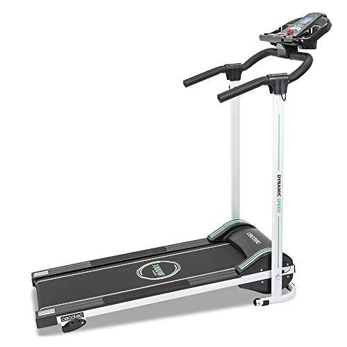 Cecotec Cinta de Andar RunnerFit Step Black Series. 12 programas predefinidos, Pantalla LED, 10 Km/h, con Altavoces, Sistema Seguridad Magnético, Plegable, 1000 W