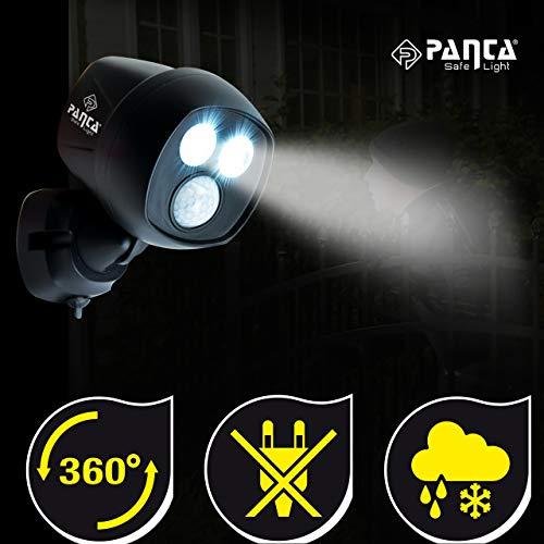 MediaShop Panta Safe Light 2er Set – LED Strahler für innen und außen – Außenleuchten mit Bewegungsmelder und Tageslichtsensor – wetterfeste LED Außenbeleuchtung – 2 Stk. - 2