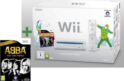 Wii BLANCHE + JUST DANCE 2 + ABBA : YOU CAN DANCE