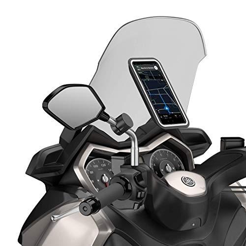 Shapeheart - Soporte Movil Magnético fijo para Espejo de moto y scooter, Talla XL, Smartphone hasta 16.5 cm