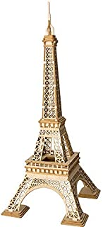 PONTE COLLECTION Eiffel Tower Wooden 3D Puzzles Model Creative Puzzle World Great Architecture DIY Toys 121-Piece Wood Craft Kit Best Educational Gift for Kids