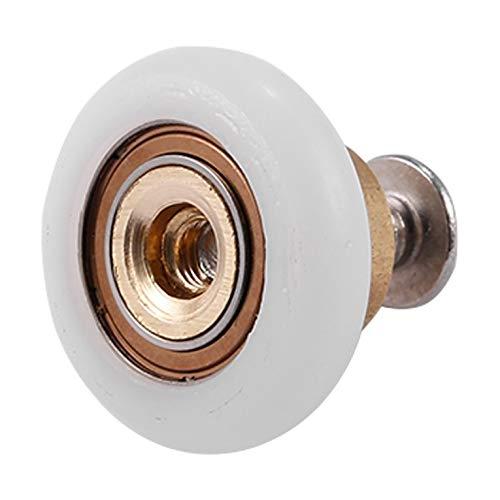 Utiliza piezas de repuesto lisas y duraderas para ruedas / deslizadores / ruedas para puertas de ducha con un diámetro de rueda de 19 mm (paquete de 4).