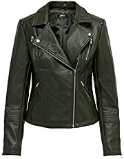Only Onlgemma Faux Leather Biker Otw Noos Giacca Donna