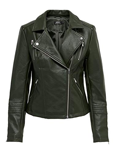 ONLY Female Jacke Kunstleder 40Rosin