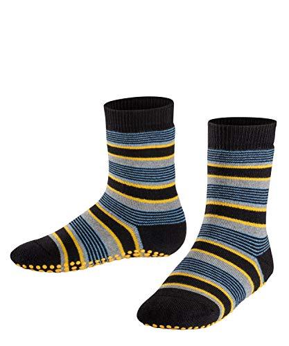 FALKE Unisex Kinder Mixedstripe Cp Socken Stoppersocken, Schwarz (Black 3000), 27-30